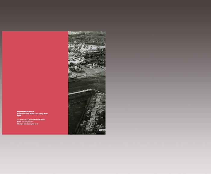 Brochure 100 jaar Sociaal Wonen in Hamme - achterflap
