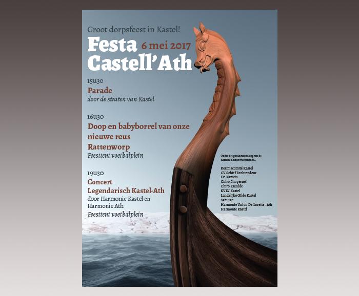 Promotiemateriaal Festa Castell'Ath - affiche