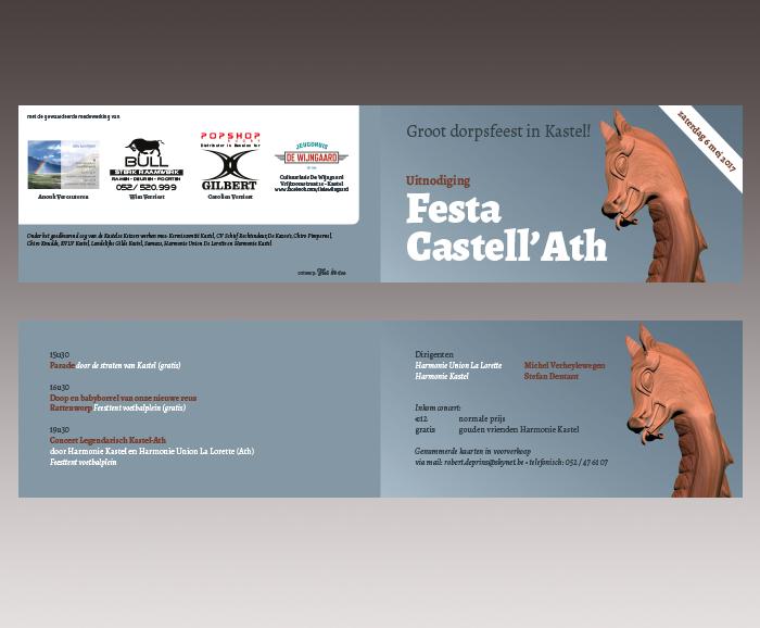Promotiemateriaal Festa Castell'Ath - uitnodiging