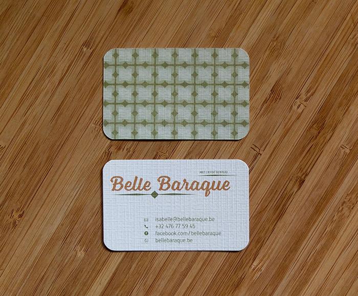 visitekaartje Belle Baraque - recto en verso