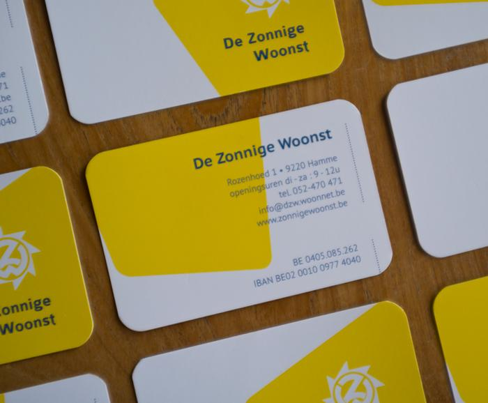 Businesscards De Zonnige Woonst - detail verso