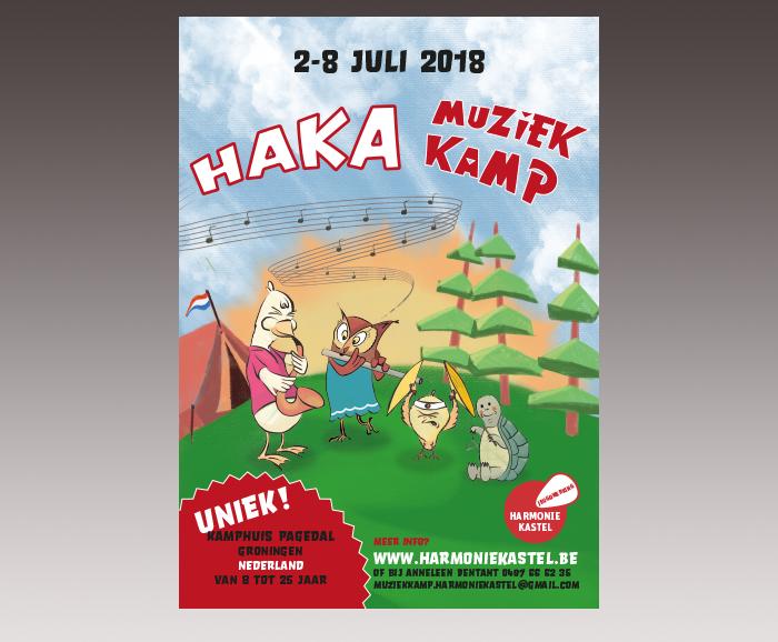 Promotie HaKa Muziekkamp 2018 - affiche