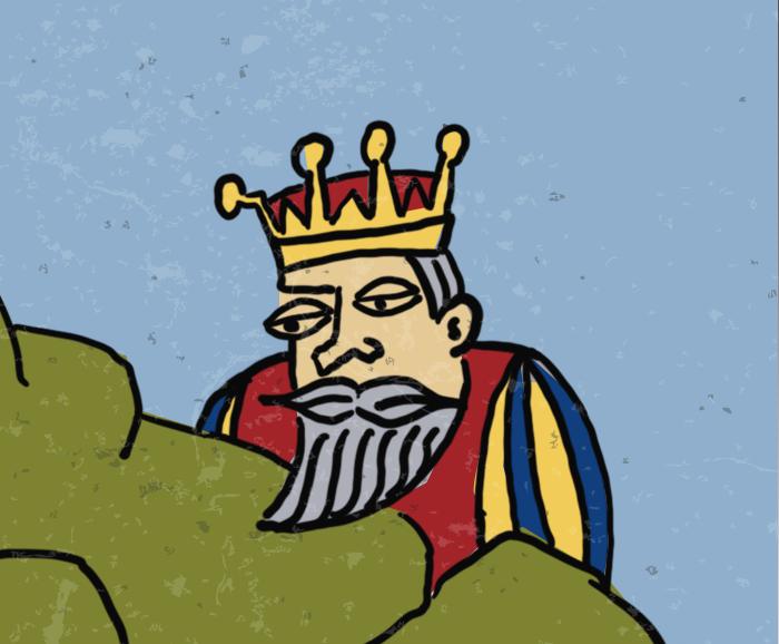 Affiche Lenteconcert Harmonie Kastel - detail koning