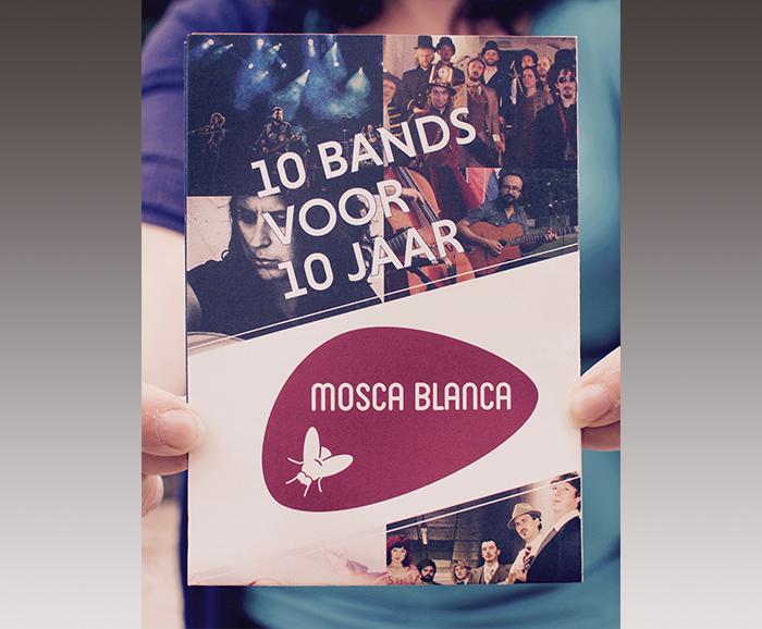 Folder 10 jaar Mosca Blanca - geplooid