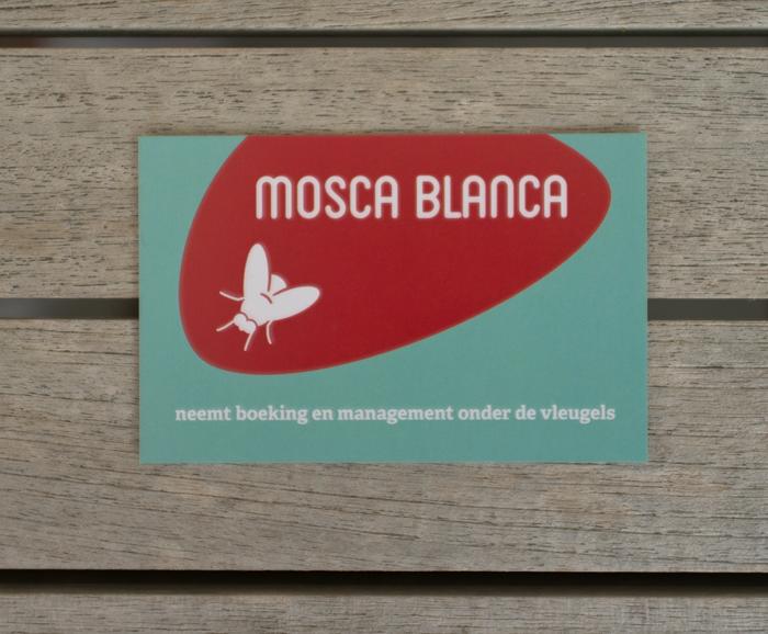 visitekaartje Mosca Blanca - recto
