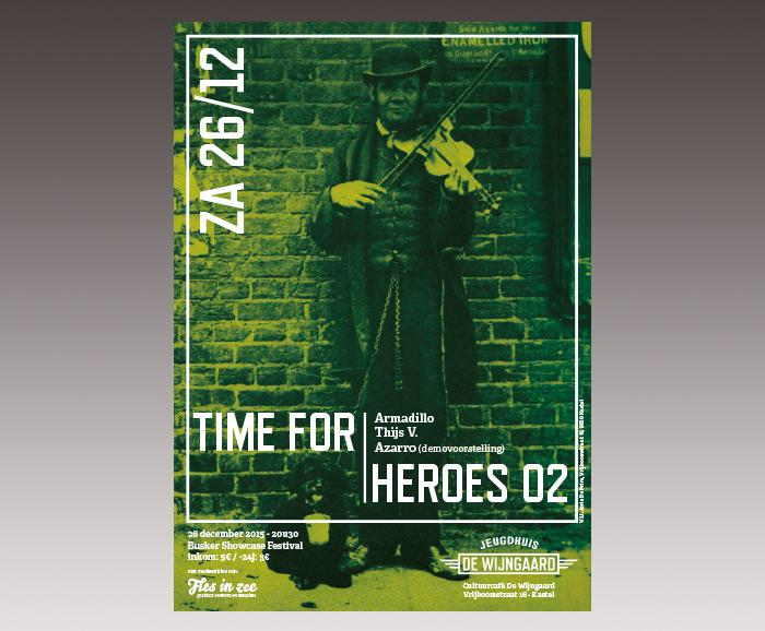 affiche jeugdhuis De Wijngaard - Time for Heroes 02