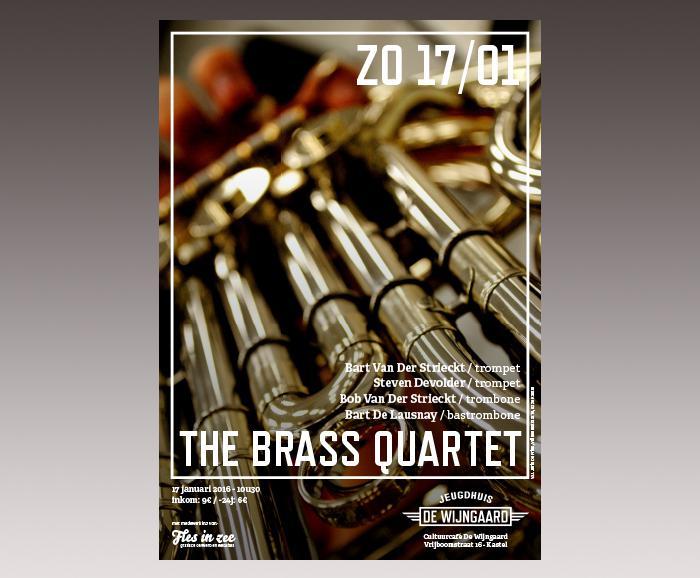 affiche jeugdhuis De Wijngaard - The Brass Quartet