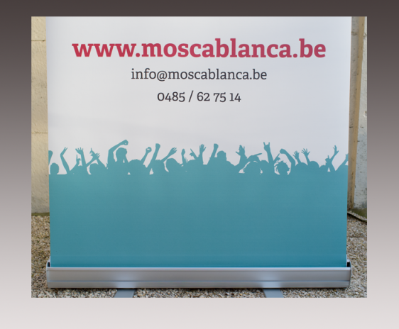 Rollbanner Mosca Blanca - detail